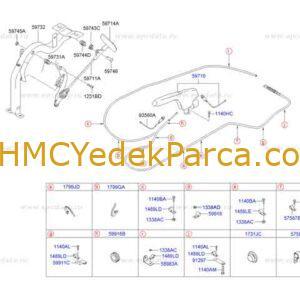 HYUNDAI HD35 EL FREN KOLU EURO1 HD75 ORJINAL 597105H901
